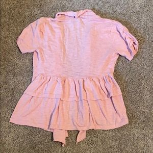 Rue 21 Medium Pink Short Sleeve Shrug Top